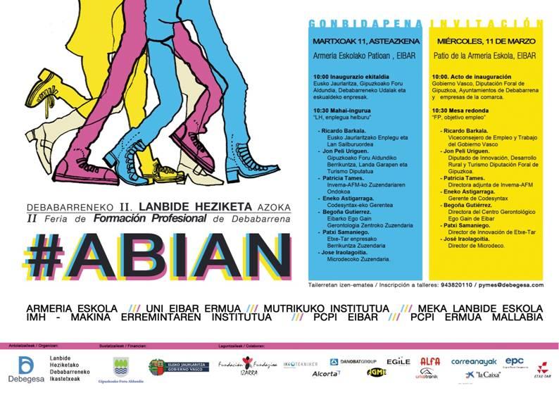 Programa de ABIAN Feria de Formación Profesional en Debabarrena