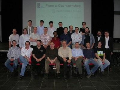 Acto de fundación del proyecto PloneGov en Seneffe (Bélgica).