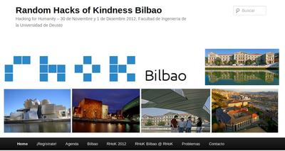 Blog de la iniciativa Random Hacks of Kindness Bilbao