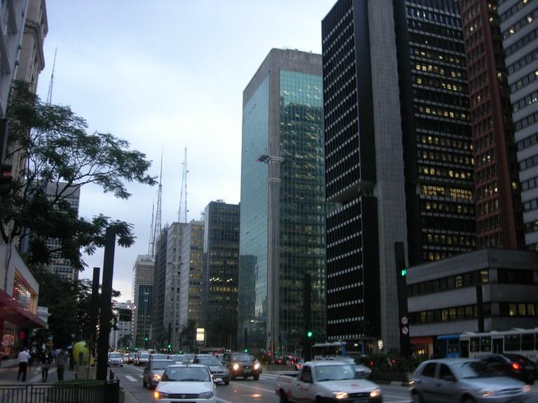 Avenida Paulista - Centro económico financiero de Sao Paulo