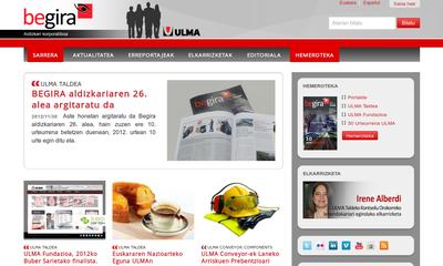 Sitio web de la revista corporativa Begira del Grupo Ulma