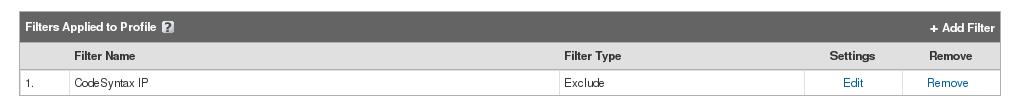 Añadir filtro Google Analytics