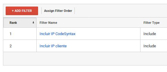 Filtros de IP inclusivos