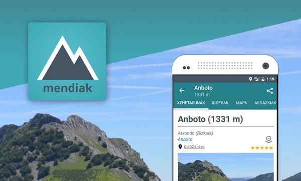 Mendiak aplikazioa, 3.5.4 bertsioa argitaratu dugu