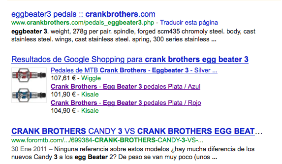 Google emaitza organikoa