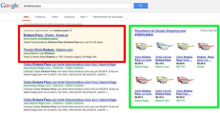 Endura Pacu Google Shopping