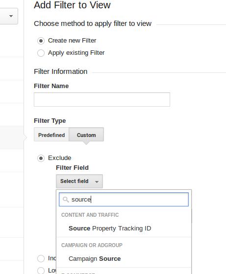 Custom filter - Google Analytics