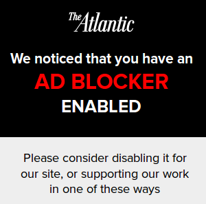 The Atlantic adblocker